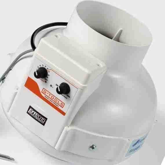 buisventilator met fan controller