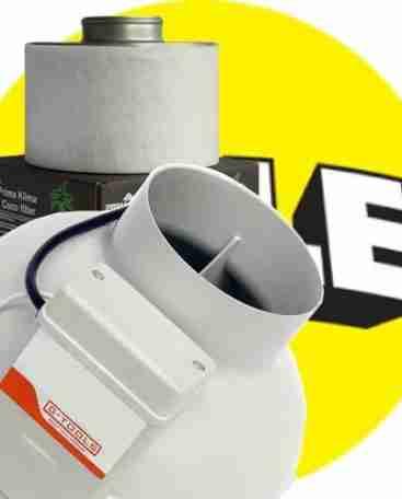 Aanbieding buisafzuiger met koolstoffilter filter
