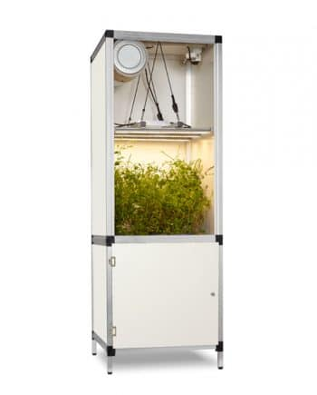 growbox met led kweeklamp